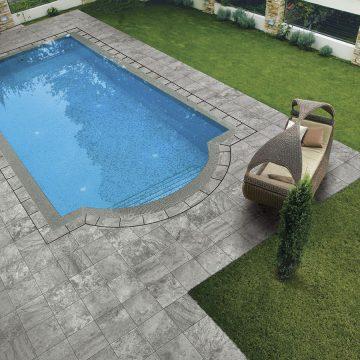 modern yard with swimming pool